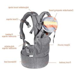 Baby Carrier Sling for Newborn - Baby Wrap Carriers Front an