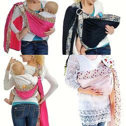 Baby Ring Sling Carrier Infant Toddler Newborn Adjustable Nu