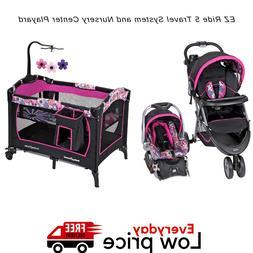 Baby Stroller & Car Seat Combo Walking Girl Travel System Nu