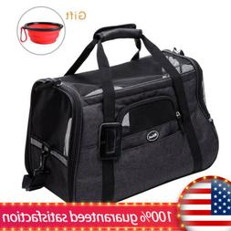 Breathable Mesh Pet Carrier For Travel Airline Dog Cat Comfo