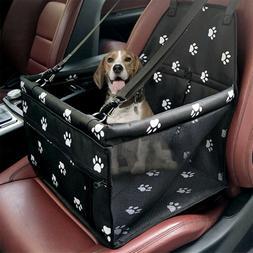 Collapsible Pet Dog Booster Car Seat Cat Dog Car Carrier Zip