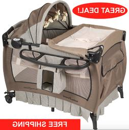 Crib and Changer Pack n Play with Sound Portable Baby Infant