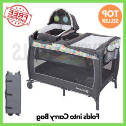 Crib and Changer Pack n Play Snooze Nursery Baby Infant Bass