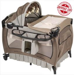 Crib and Changer Pack n Play W Sound Portable Baby Infant Ba