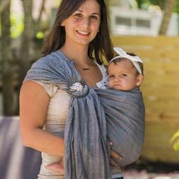Tekhni Graphite + Smoke Ring Sling Baby Carrier Kyanite Wrap