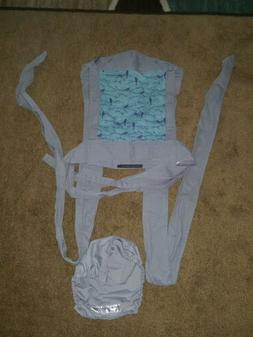 Infantino Sash Wrap & Tie Mei Tai Carrier Gray with Birds Pr
