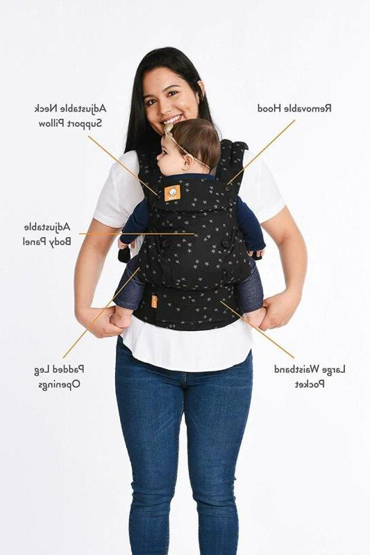 Baby Tula Carrier 7 Lb, Adjustable Newborn To Toddler Carrie
