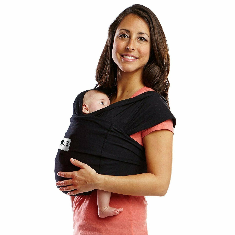 Baby K'tan ORIGINAL Cotton Wrap-style Baby Carrier Black Medium