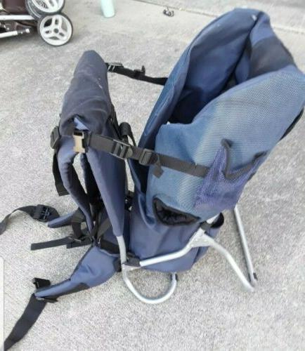 blue backpack carrier infant toddler hiking
