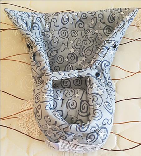 Ergo- nomic Infant Insert for Baby Carrier Cotton Gray New