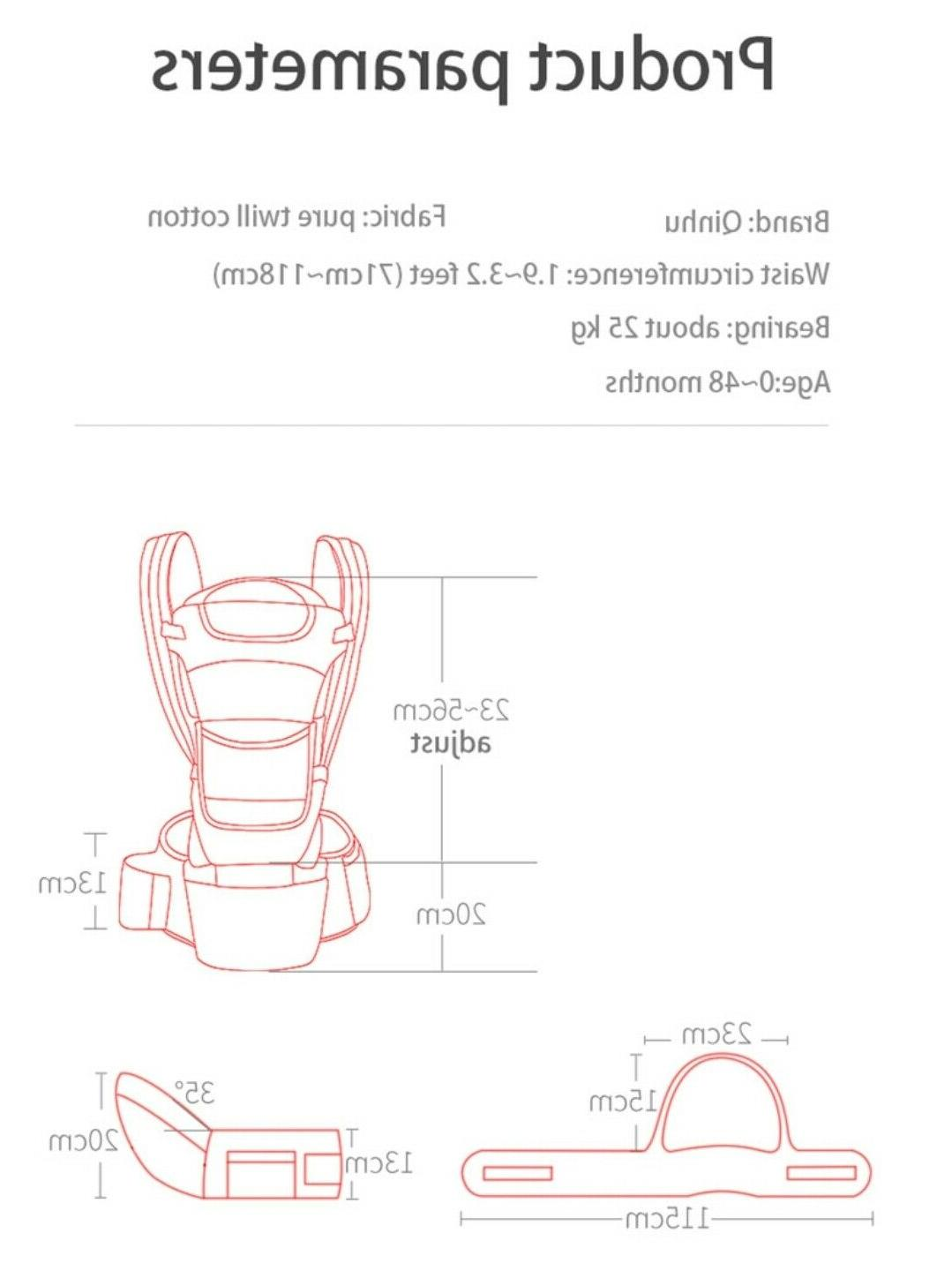 Newborn Breathable Ergonomic Adjustable Sling