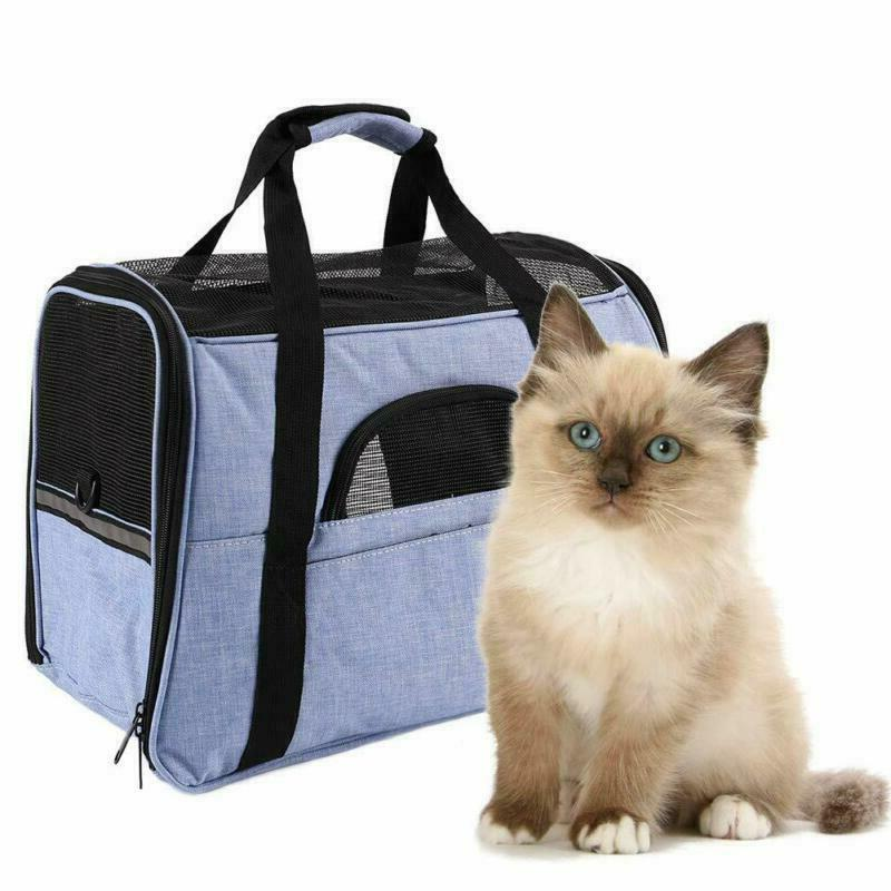 Airline Approved Pet Carrier With 4 Side Breathable Mesh Des