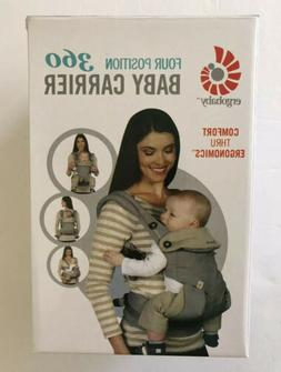 New!! ErgoBaby Four Position 360 Carrier Cool Air Carbon Gre