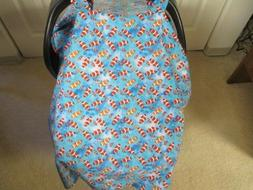 NEW - Nemo  Fish Print Handmade Baby Car Seat Carrier Cover