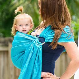 Tekhni Ocean + Silver Ring Sling Baby Carrier Kyanite Wrap C