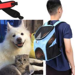 Outdoor Pet Carrier Double Shoulder Bag Dog Cat Backpack Pet
