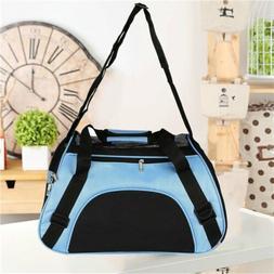 Pet Carrier Soft Sided Large Cat / Dog Comfort Blue Bag Trav
