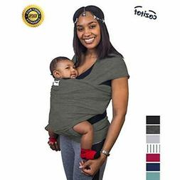 """Slate Grey Baby Sling Carrier Wrap Soft """" Stretchy Small To"""