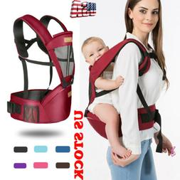 US Ergonomic Baby Carrier Backpack with Hip Seat Front Back